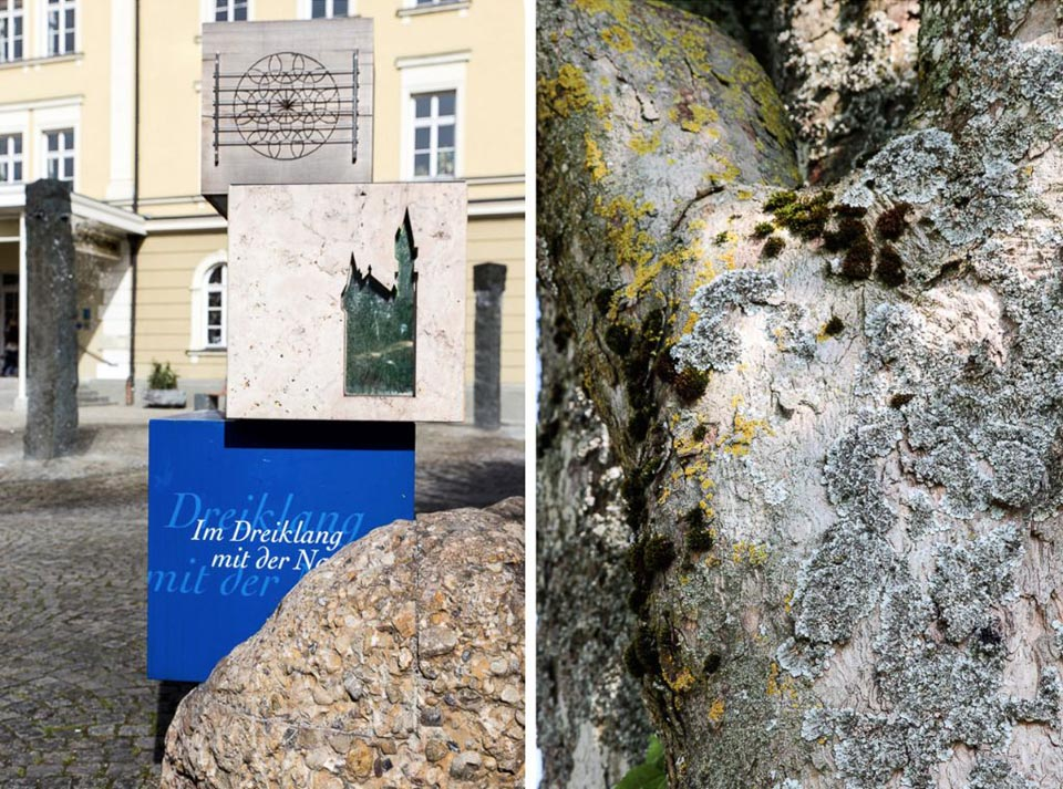 Stele der Wandertrilogie Allgäu in Füssen